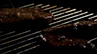 SLO MO Throwing Meat On The Grill video