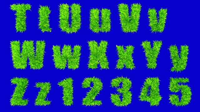 T thru Z and numbers made with swaying grass. video