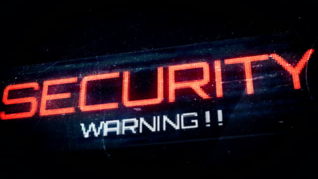 Thumb print and security warnings video