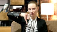 Thumbs Down By Business Woman video