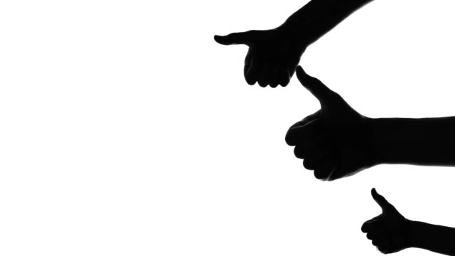 Thumbs up silhouette video