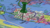 Thumbtack in San Francisco Map  HD video