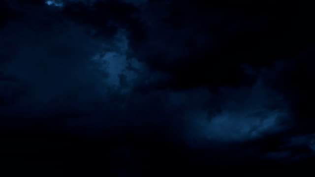 Thunderstorm Clouds at Night with Lightning. HD 1080. video