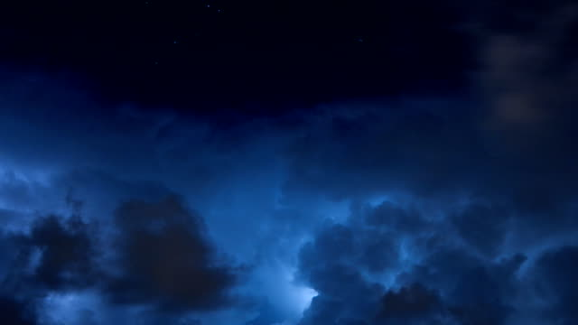 Thunderstorm time lapse video