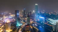 T/L WS HA PAN Tianjin Skyline at Night / Tianjin, China video