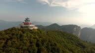Tianmen Shan Temple on Top of Tianmen Mountain video
