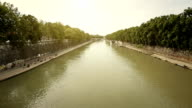 Tiber river and bridge from Tiberina island video