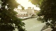 Tiber River and Tiberina Island in Rome video