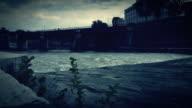 Tiber River from Isola Tiberina in Rome video
