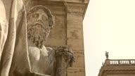 Tiber River God statue at Palazzo Senatorio in Rome video