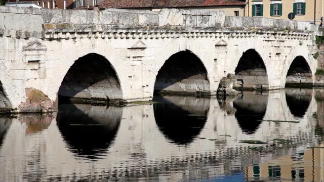 Tiberius' Bridge closeup, Rimini video