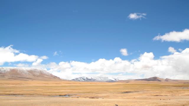 Tibet landscape time lapse video