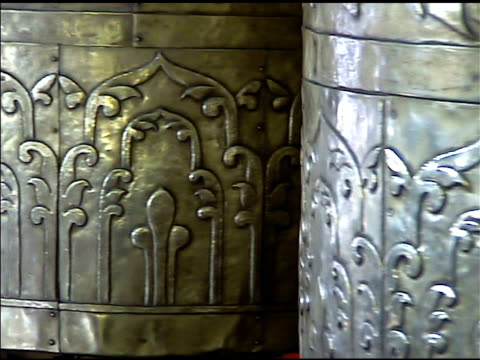 Tibetan Buddhist Metal Prayer Wheels Spinning video