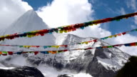 Tibetan Holy Prayer Flags around Yading video