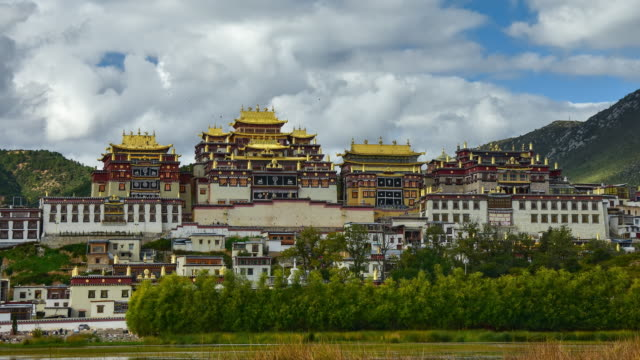 Tibetan Temple Songzanlin Monastery in Shangri-la Town of Yunnan, China video