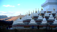 Tibetan white Pagodas in Daocheng, Sichuan Province, China. video