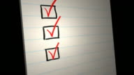 Tick/Check All the Boxes. Animated checklist video