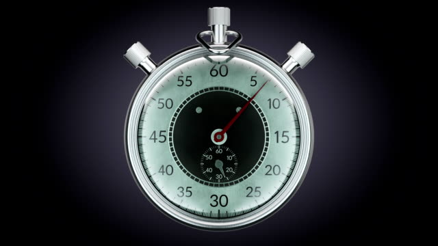 Ticking chronometer (stopwatch) Realistic animation video