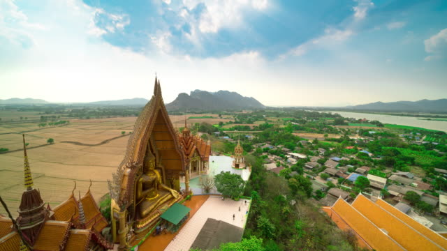 Tiger cave temple or Wat tham sua in Kanchanaburi Thailand video