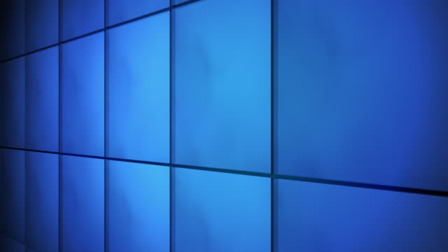 Tile Grid Wall Background Blue video