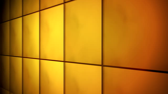 Tile Grid Wall Background Orange video