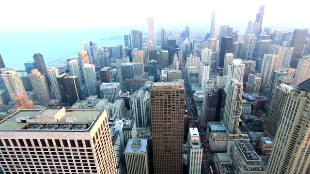 HD Tilt: Aerial Chicago Skyline Cityscape USA video