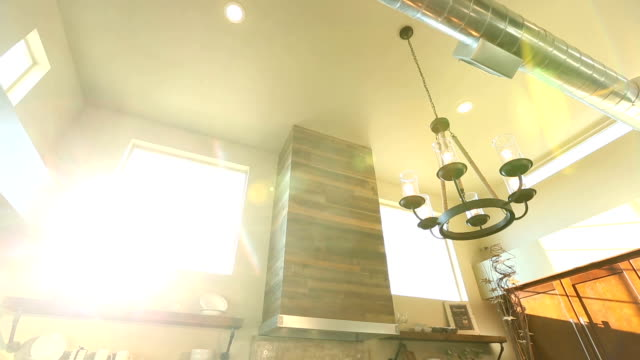 Tilt Down From Ceiling to Reveal Kitchen and Dining Room video