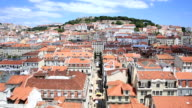 HD Tilt: Lisbon aerial view Portugal video