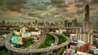 Tilt Shift of Expressway and Highway Aerial View video