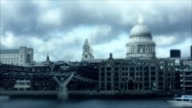 Tilt Shift: St. Paul's Cathedral, London, timlapse video