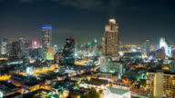 Tilt shot of beautiful cityscape time lapse of Bangkok,Thailand video