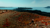 Tilting Shot of a Volcanic Desert Island video