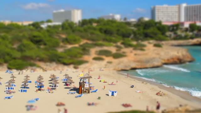 Tilt-Shift Miniature Effect and Timelapse of a Beach video