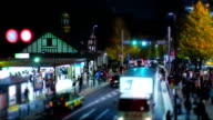 Tilt-shift time-lapse shot of Tokyo's busy city roads. video