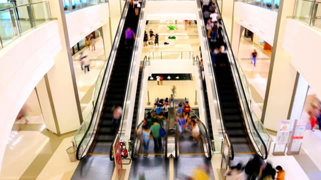 HD Timalapse: Shopping mall pedestrian video