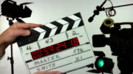 Time code film slate - 3 clapps video