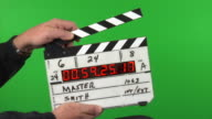 Time code slate on green screen background 3 takes video