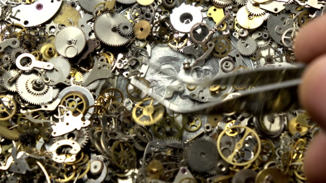 Time Is  Money Concept Via Clockwork Parts video