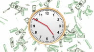 Time is Money - falling USD - LOOP HD video