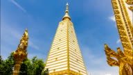 Time lapes, Phrathat Nong Bua temple in Ubon Ratchathani, Thailand. video