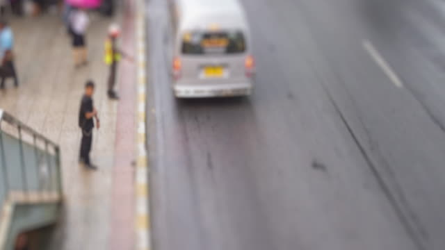 4K Time Lapse 4096x2160 : Tilt shift time lapse of highway traffic downtown Bangkok, Thailand with ProRes 422HQ (Blur content). video