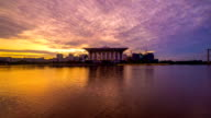 Time lapse 4k Footage of Epic Sunrise At Iron Mosque, Putrajaya. video