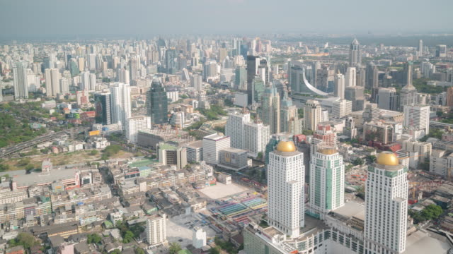 Time Lapse: Aerial Bangkok Downtown Skyline City life background video