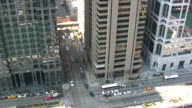 Time Lapse Aerial View of Downtown Chicago Intersection (HD 1080i) video