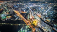 Time Lapse - Aerial View of Tokyo at Night video