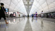 4K Time Lapse: Airport in the Hong Kong video