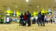 Time lapse : Airport Passenger Terminal video