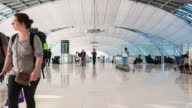 4K Time Lapse : airport terminal video