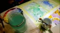 Time lapse aquarelle painting video