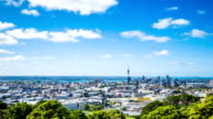 Time Lapse - Ariel View of Downtown Auckland, New Zealand, Zooming In video